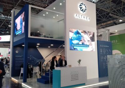 Althea exhibition stand design at Medica