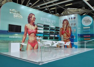 Turnkey rental booth for Cosmoprof