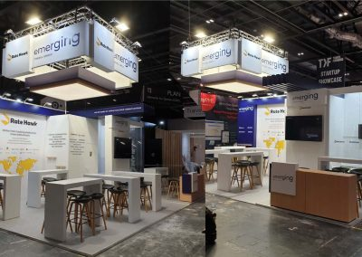 Custom trade show booths for Emerging Travel