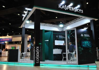 Kaspersky Lab exhibition booth for Cybertech Worldwide