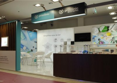 Proclinic's exhibition booth for dental meetings