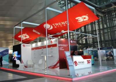 Trend Micro exhibition stand design for Cybertech