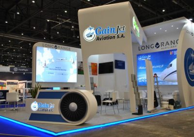 Gainjet stand construction for EBACE